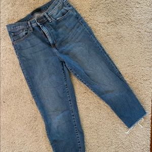 Uniqlo Jeans - Uniqlo high waisted cutoff jeans